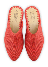 Load image into Gallery viewer, Women's Shoes - Raffia Babouche - Red