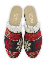 Load image into Gallery viewer, Women's Shoes - Women's Fringe Sumak Kilim Slides - Size 38