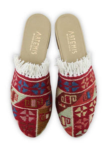 Women's Shoes - Women's Fringe Sumak Kilim Slides - Size 40