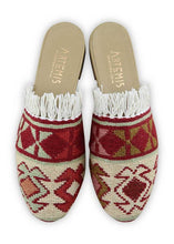 Load image into Gallery viewer, Women's Shoes - Women's Fringe Sumak Kilim Slides - Size 40