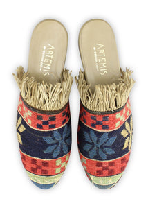 Women's Shoes - Women's Fringe Sumak Kilim Slides - Size 41