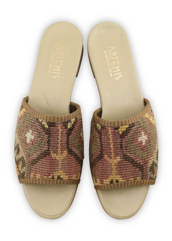 Women's Shoes - Women's Kilim Sandals - Size 42