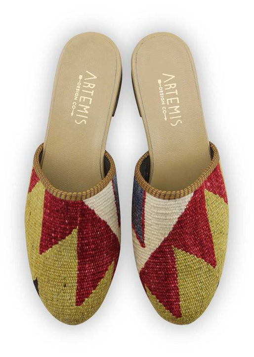 Women's Shoes - Women's Kilim Slides - Size 40