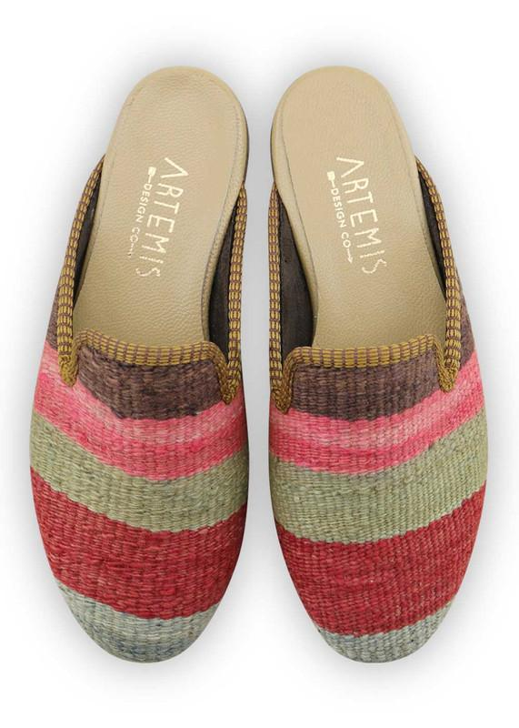 Women's Shoes - Women's Kilim Slippers - Size 37
