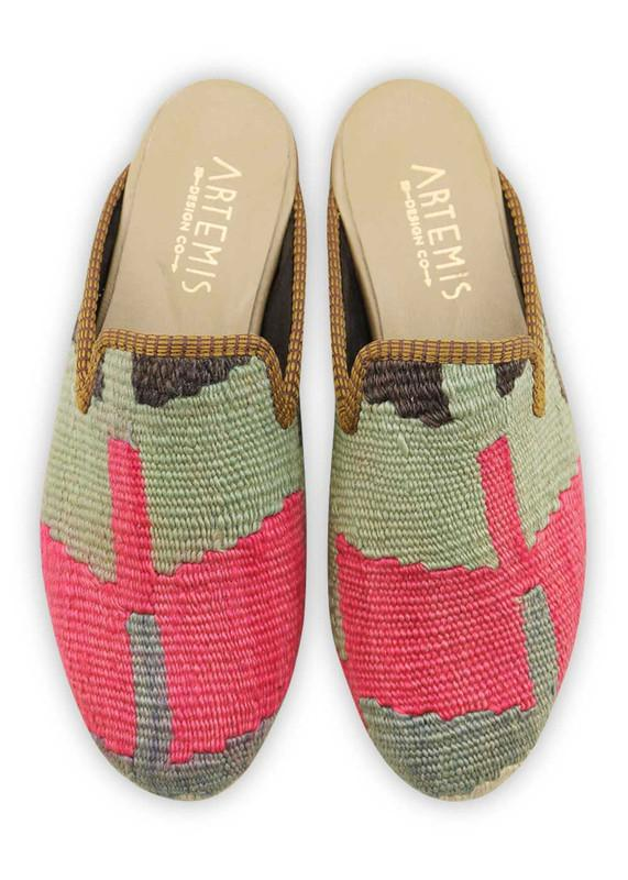 Women's Shoes - Women's Kilim Slippers - Size 38