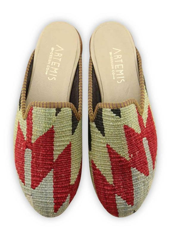 Women's Shoes - Women's Kilim Slippers - Size 41