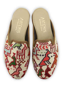 Women's Shoes - Women's Sumak Kilim Slippers - Size 36