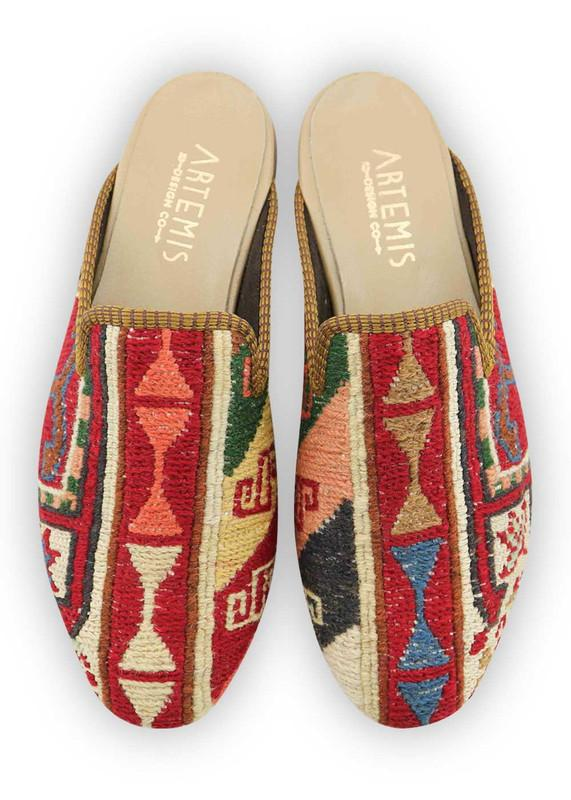 Load image into Gallery viewer, Women's Shoes - Women's Sumak Kilim Slippers - Size 40