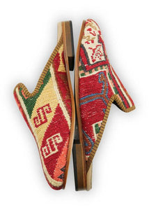 Women's Shoes - Women's Sumak Kilim Slippers - Size 40