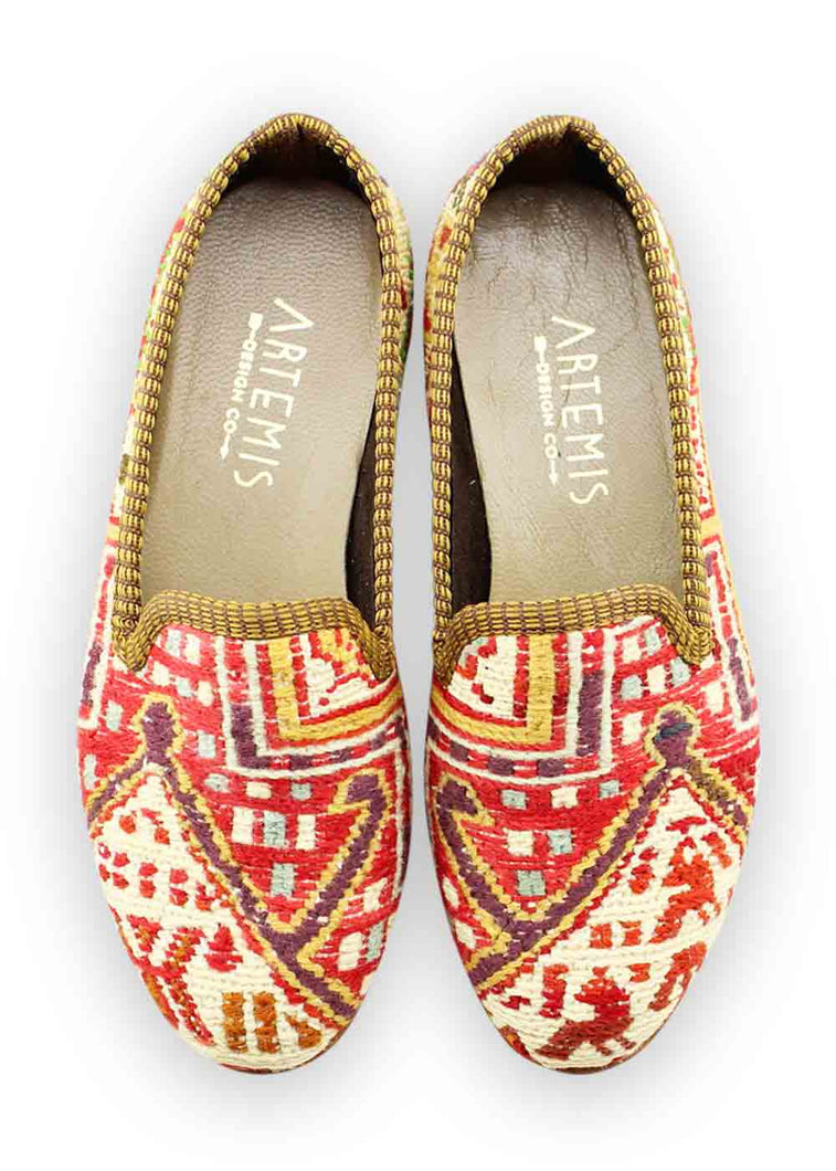 Load image into Gallery viewer, Women's Shoes - Women's Sumak Kilim Smoking Shoes - Size 35