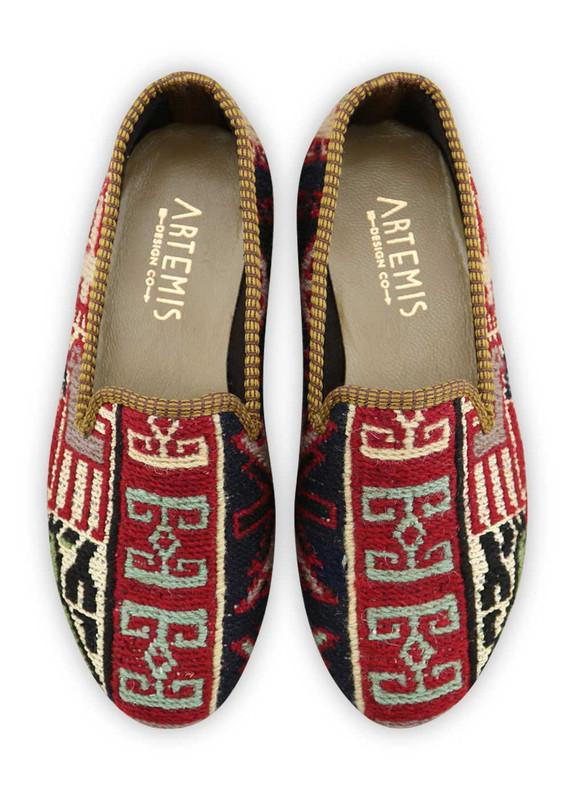 Load image into Gallery viewer, Women's Shoes - Women's Sumak Kilim Smoking Shoes - Size 36