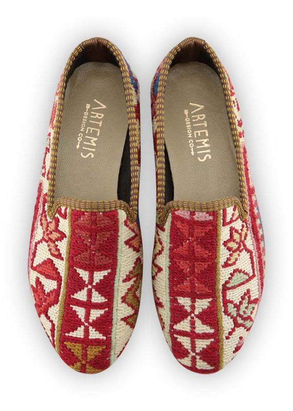 Load image into Gallery viewer, Women's Shoes - Women's Sumak Kilim Smoking Shoes - Size 39