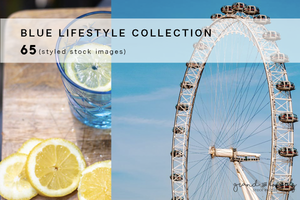 Styled Stock Photography | BLUE themed blogging lifestyle bundle (65 images) - Grand & Lovely Stock styled photography desktops lifestyle screens desktops stationary