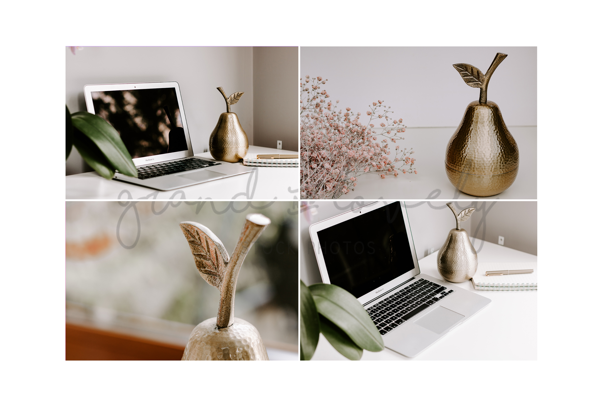 Styled Stock Photography | GOLD themed blogging lifestyle bundle (50+ photos & quotes) - Grand & Lovely Stock styled photography desktops lifestyle screens desktops stationary