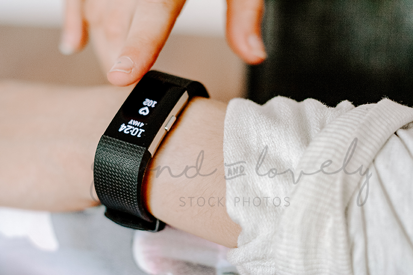 FITBIT HEALTHY LIFESTYLE | Single Photo - Grand & Lovely Stock styled photography desktops lifestyle screens desktops stationary