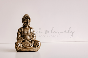 #Lifestyle I Gold Buddha Mockup I Single Photo - Grand & Lovely Stock styled photography desktops lifestyle screens desktops stationary