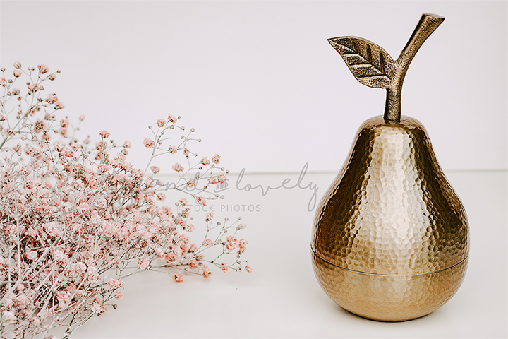 Lifestyle Gold Pear | Single Photo - Grand & Lovely Stock styled photography desktops lifestyle screens desktops stationary