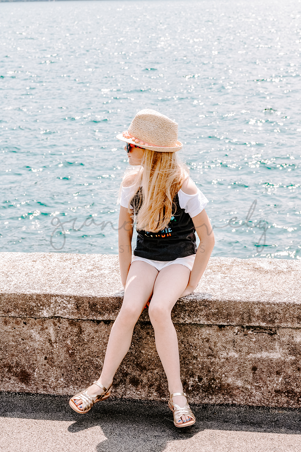 #TRAVEL #LIFESTYLE Child Sitting by the Water | Single Photo - Grand & Lovely Stock styled photography desktops lifestyle screens desktops stationary