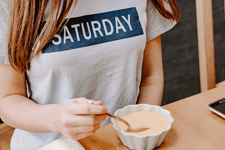 Styled Stock Photography I Downtime Girl wearing Saturday t-shirt - Grand & Lovely Stock styled photography desktops lifestyle screens desktops stationary