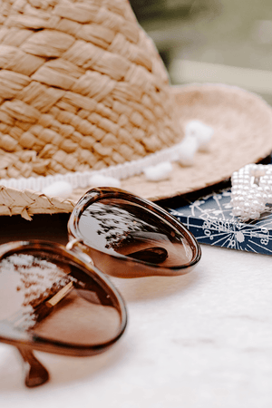 Styled Stock Photography | #Lifestyle #Travel I Sunglasses Straw Hat | Summer concept - Grand & Lovely Stock styled photography desktops lifestyle screens desktops stationary