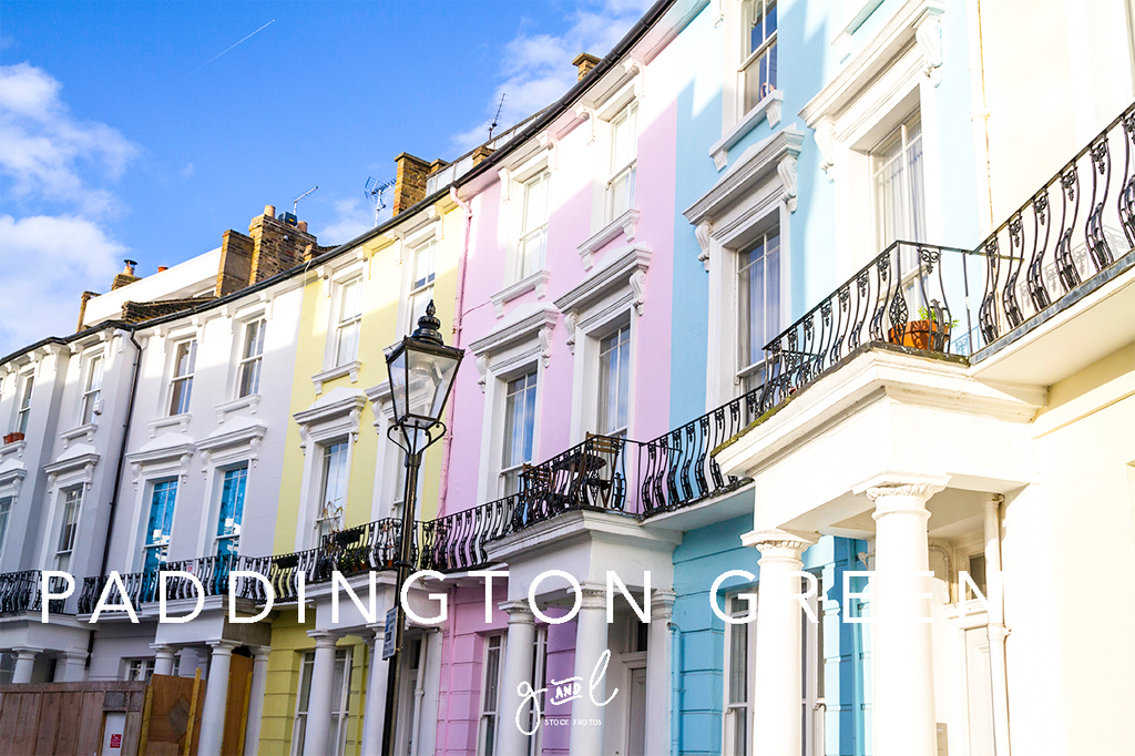 Premium Styled stock photography I Lifestyle Image | Colourful houses London street | travel blog - Grand & Lovely Stock styled photography desktops lifestyle screens desktops stationary