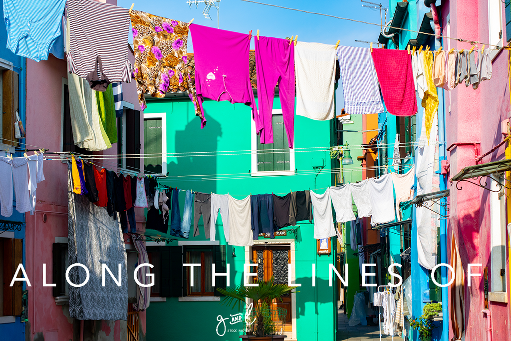 colourful clothes line, stock photography, stunning image