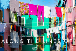 Premium Styled stock photography I Travel Blog Image | Vibrant Colours | lifestyle stock photo | washing line - Grand & Lovely Stock styled photography desktops lifestyle screens desktops stationary