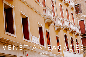 Premium Styled stock photography I Travel Stock Image | Pretty Venetian Building Facades Shutters | Terracotta | Blushes