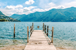 #Travel #Vacation | Jetty Lake Lugano Switzerland | Single Photo - Grand & Lovely Stock styled photography desktops lifestyle screens desktops stationary