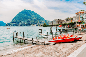 #Travel #Lifestyle | Rowboats Lake Lugano Switzerland | Single Photo - Grand & Lovely Stock styled photography desktops lifestyle screens desktops stationary