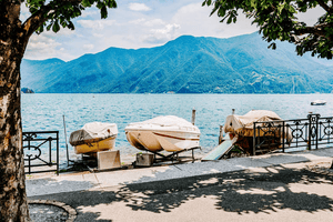 #Travel #Lifestyle | Closeup boats docked on the lake Lugano Switzerland | Single Photo - Grand & Lovely Stock styled photography desktops lifestyle screens desktops stationary
