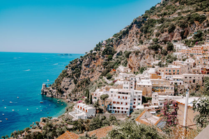 #Travel #Vacation #Summer I Italian Cliff Living | Scenic Positano I Set of 2 photos - Grand & Lovely Stock styled photography desktops lifestyle screens desktops stationary