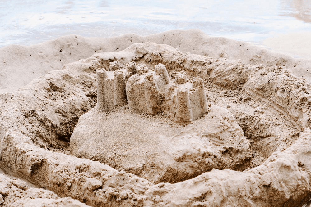 #Travel I Large Sandcastle | Summer concept I Single Photo - Grand & Lovely Stock styled photography desktops lifestyle screens desktops stationary