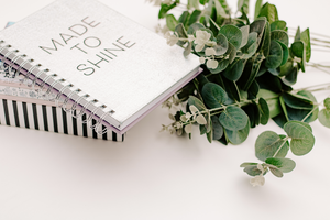 Minimal Desk styled stock photo | spiral notebook & eucalyptus - Grand & Lovely Stock styled photography desktops lifestyle screens desktops stationary