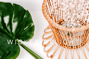 Premium Styled stock photo I Lifestyle Image | Wicker Basket | Hygge | Rustic | Succulent Plant | Minimal - Grand & Lovely Stock styled photography desktops lifestyle screens desktops stationary
