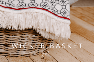 Styled stock photography I Homeware Lifestyle Image | Wicker basket | Blanket | Rustic Vibes | Blog | Social Media Image - Grand & Lovely Stock styled photography desktops lifestyle screens desktops stationary