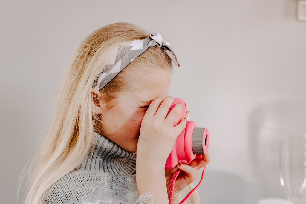 #Travel #Parenting #Education Child taking a photo with a polaroid camera | Single Photo - Grand & Lovely Stock styled photography desktops lifestyle screens desktops stationary