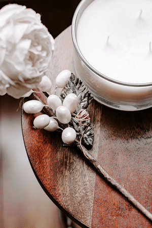 FREE styled stock image I white candle mahogany floral lifestyle photo - Grand & Lovely Stock styled photography desktops lifestyle screens desktops stationary