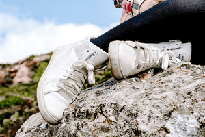 #PARENTING blogging | Teenager Concept - White Hi-Tops sneakers shoes | Set of 2 Photos - Grand & Lovely Stock styled photography desktops lifestyle screens desktops stationary