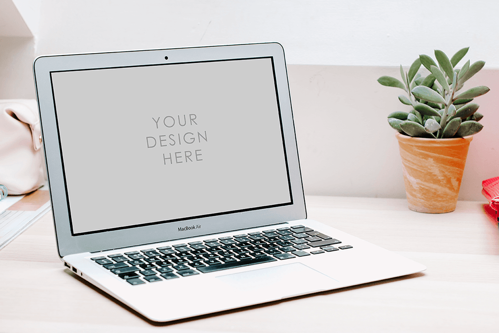 Laptop Mackbook Mockup bright setting | lifestyle blogging - Grand & Lovely Stock styled photography desktops lifestyle screens desktops stationary