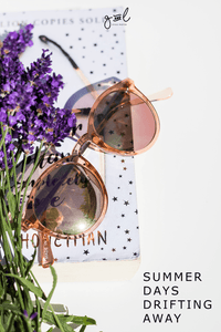 Styled Stock Photography | #Lifestyle #blog I Sunglasses Books Lavender | summer reading concept - Grand & Lovely Stock styled photography desktops lifestyle screens desktops stationary