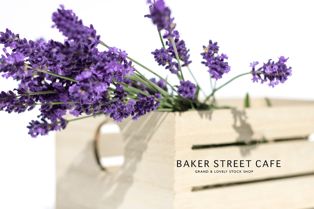 Styled Stock Photography | #Florals #blog I Bunch of Lavender in wooden slat box - Grand & Lovely Stock styled photography desktops lifestyle screens desktops stationary