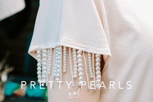 Styled stock photo I Lifestyle Image | Feminine Pearls - Grand & Lovely Stock styled photography desktops lifestyle screens desktops stationary