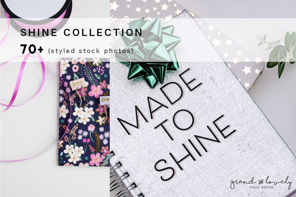 SHINE themed bundle for bloggers (70+ styled stock photos) - Grand & Lovely Stock styled photography desktops lifestyle screens desktops stationary