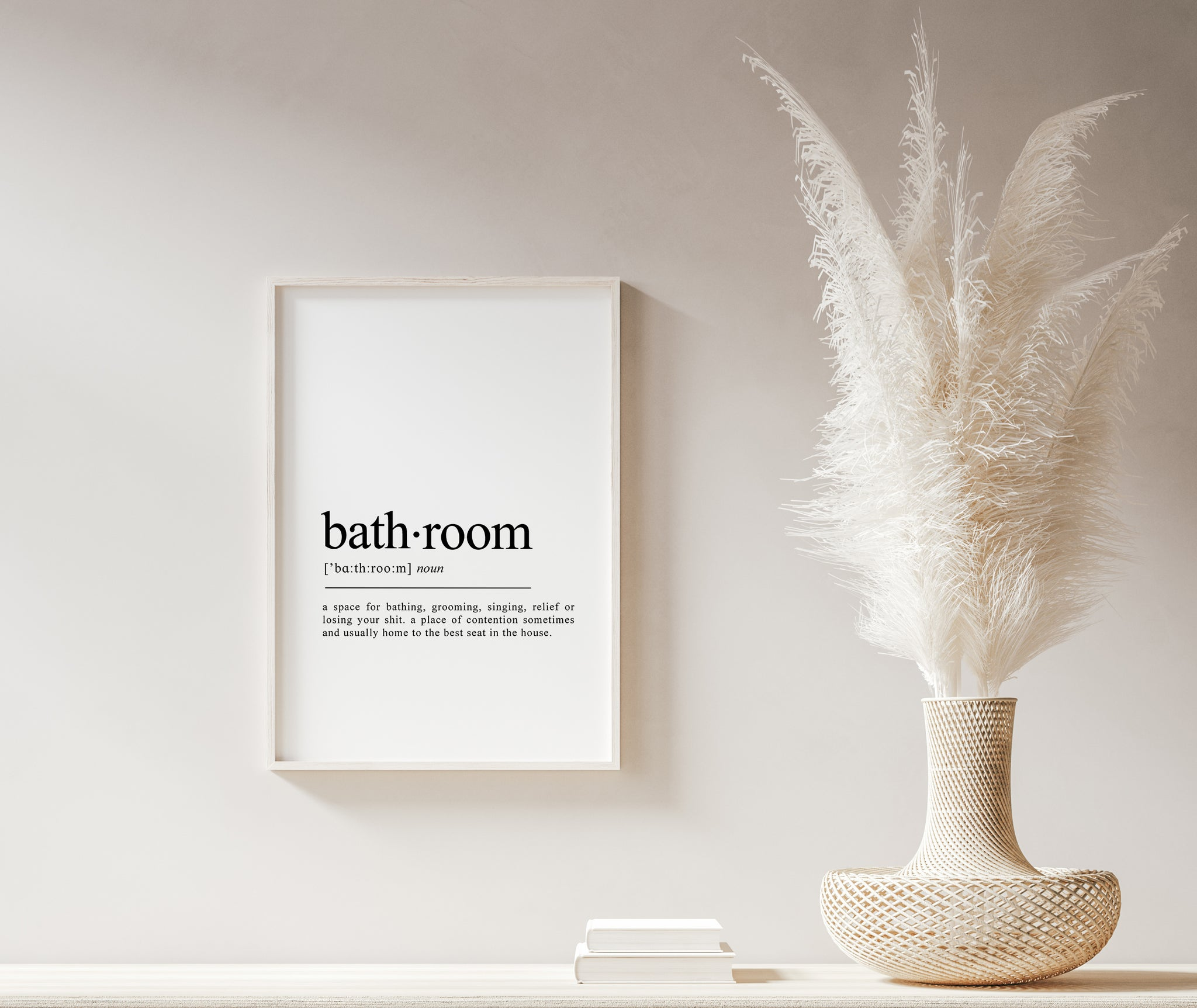 Bathroom Definition Word Wall Art | Bathroom Room Print | Friend Gift | New Home