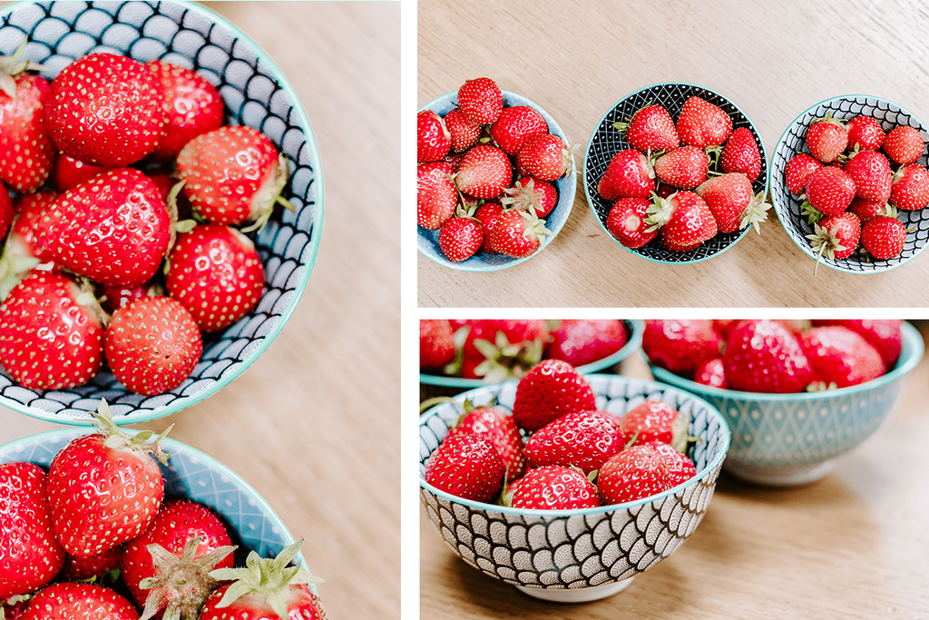 Healthy Living | FRUIT | Set of 3 styled stock photos bundle | bowls of strawberries - Grand & Lovely Stock styled photography desktops lifestyle screens desktops stationary