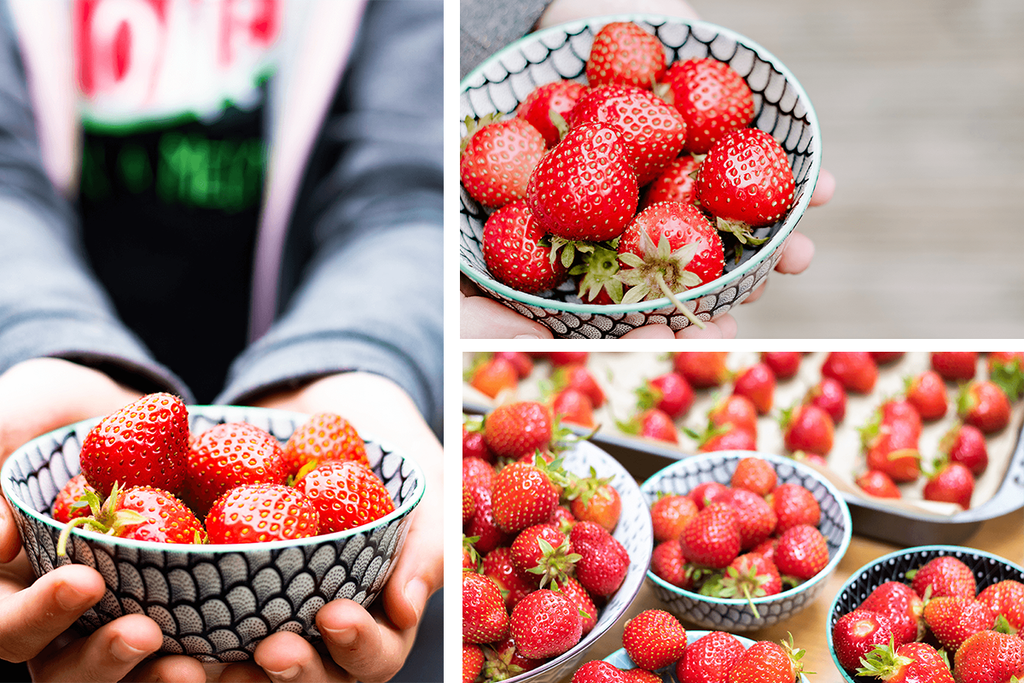 Healthy Lifestyle | FRUIT | Set of 4 styled stock photos bundle | hands holding strawberries - Grand & Lovely Stock styled photography desktops lifestyle screens desktops stationary