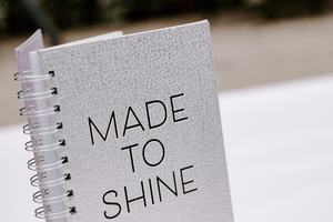 Made to Shine spiral notebook | #blog #lifestyle | Single Photo - Grand & Lovely Stock styled photography desktops lifestyle screens desktops stationary