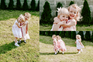 Styled Stock Photography | Family | Parenting | Set of 7 Images | Little girls playing in the garden - Grand & Lovely Stock styled photography desktops lifestyle screens desktops stationary