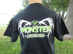 Monster Bucks Plus Black T-shirt